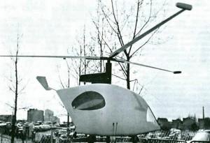 Maquette de la Maison de Vacances Volante de Guy Rottier