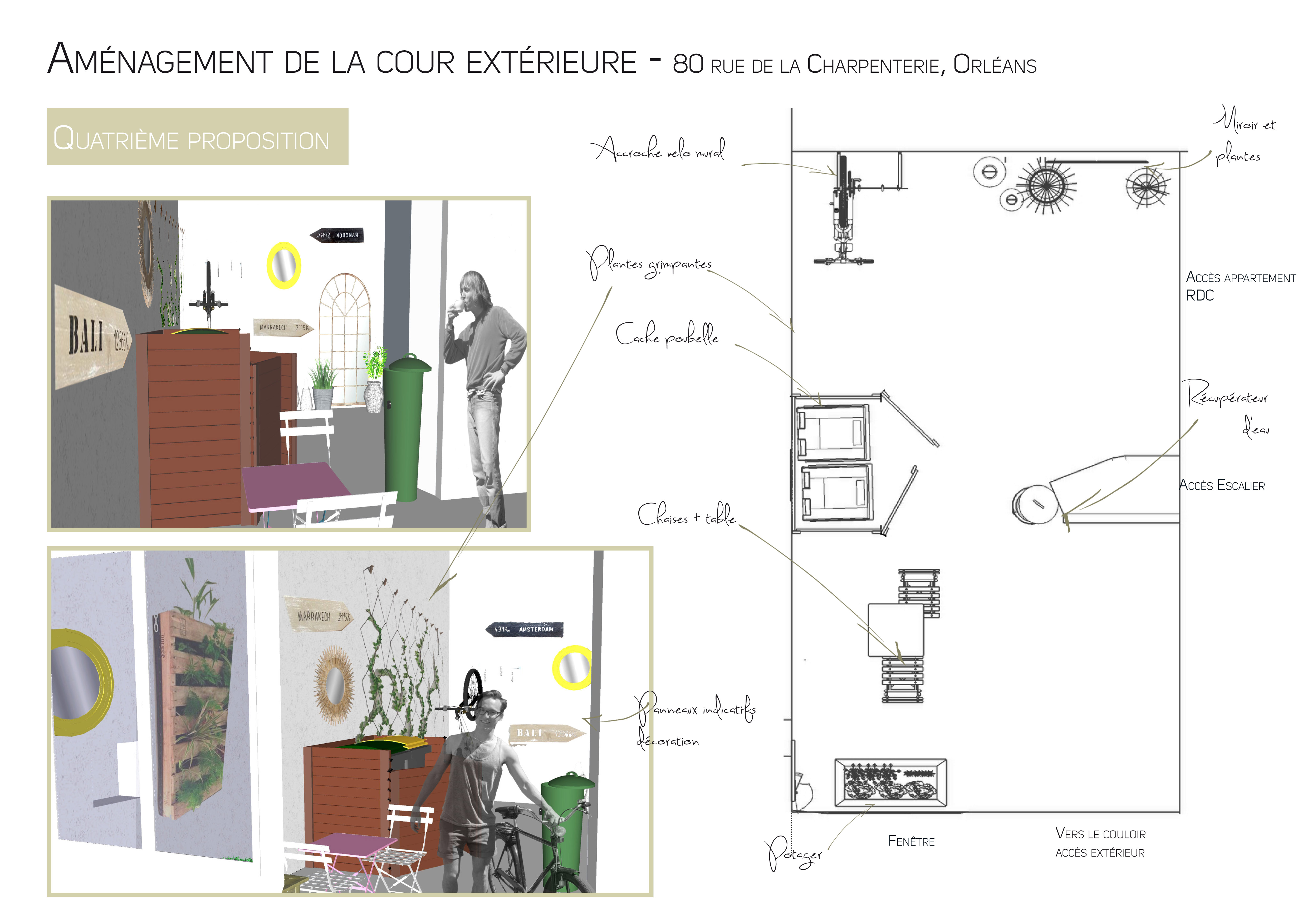 projets d 39 t am nagement de la cour int rieure. Black Bedroom Furniture Sets. Home Design Ideas