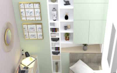 Projet d'aménagement de rangements dans petits espaces